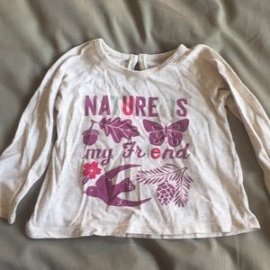 """Tea Collection """"Nature is my Friend"""" shirt. 12-18m"""